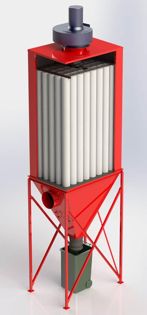 Dust Control Collector Unit - CGI Render